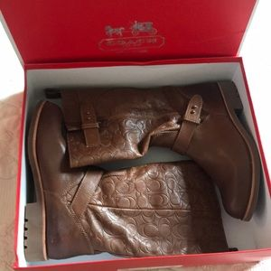 Coach Virginia Boots Italian leather size 9